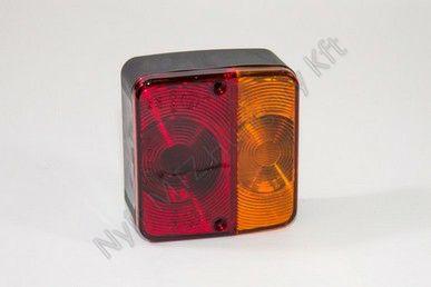 Lámpa hátsó univerzális kocka rendszámos100x110x50