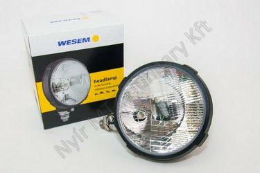 Lámpa fényszóró kerek műanyag 160 mm WESEM H4
