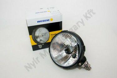 Lámpa fényszóró kerek műanyag 160 mm WESEM R2